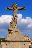 Estatua del puente de St Johns, Klodzko Glatz, Silesia Imágenes de archivo libres de regalías