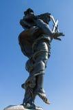 Estatua del redentor de Jesús en Cerdeña fotografía de archivo