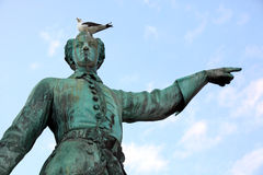Estatua del rey de Karl XII de Suecia Foto de archivo