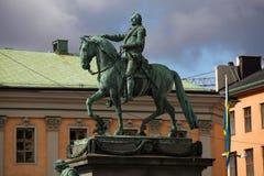 Estatua del rey sueco Gustavo II Adolfo Imagen de archivo libre de regalías