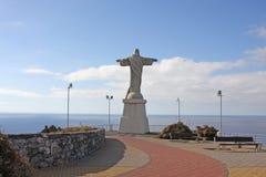 Estatua del salvador en Madeire Imágenes de archivo libres de regalías