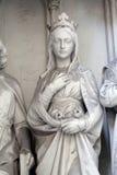 Estatua del santo al sur del portal de la iglesia de Maria Gestade en Viena imagen de archivo libre de regalías