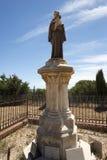 Estatua del santo Antón, abadía de Lérins, Francia Foto de archivo