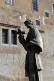 Estatua del santo Jan Nepomuk imágenes de archivo libres de regalías