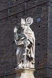 Estatua del santo Petronius, santo patrón de Bolonia Imagen de archivo