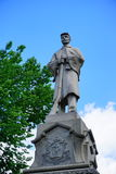 Estatua del soldado de la guerra civil en la ciudad de Mt Holyoke Imágenes de archivo libres de regalías