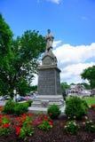 Estatua del soldado de la guerra civil en la ciudad de Mt Holyoke Imagenes de archivo