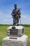 Estatua del soldado de la unión en Gettysburg Foto de archivo libre de regalías