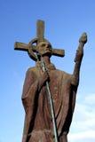 Estatua del St Aidan Imagen de archivo libre de regalías