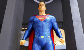 Estatua del superhombre fotografía de archivo