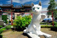 Estatua del sur del gato del Ayuntamiento de Kuching Imágenes de archivo libres de regalías