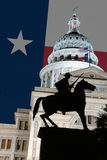 Estatua del Texan en el edificio del capitolio del estado de Tejas Imagen de archivo libre de regalías