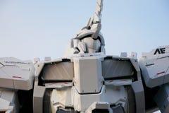Estatua del unicornio de Gundam en Odaiba Imagen de archivo