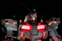 Estatua del unicornio de Gundam en Odaiba Imagen de archivo libre de regalías