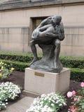 Estatua delante de Nasjonalgalleriet en Oslo, Noruega, Europa Fotografía de archivo libre de regalías