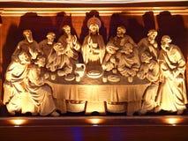 Estatua dentro del seminario y de la iglesia de San José Imágenes de archivo libres de regalías