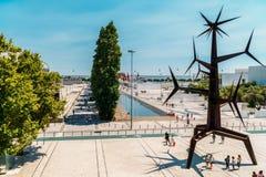 Estatua do Homem-Sol Statue by Jorge Vieira located at Parque das Nacoes In Lisbon. LISBON, PORTUGAL - AUGUST 10, 2017: Estatua do Homem-Sol Statue by Jorge Royalty Free Stock Photo