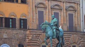 Estatua ecuestre de Cosimo I en Florencia metrajes