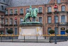 Estatua ecuestre de enero Wellem en Düsseldorf Imagen de archivo libre de regalías