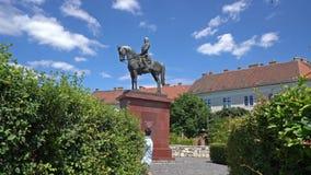 Estatua ecuestre de Grgey-szobor en Budapest metrajes