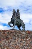 Estatua ecuestre de la emperatriz Elizabeth Petrovna. Baltiysk, Rusia Fotos de archivo