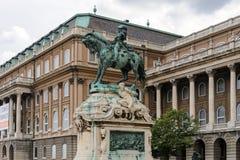 Estatua ecuestre de príncipe Eugene de la col rizada Foto de archivo
