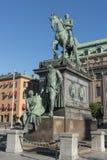 Estatua ecuestre de rey Gustav II Adolf Stockholm Fotos de archivo