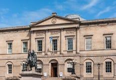 Estatua ecuestre del duque de Wellington, Edimburgo, Escocia, Reino Unido foto de archivo