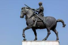 Estatua ecuestre del general veneciano Gattamelata en Padua, fotografía de archivo libre de regalías