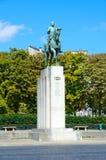 Estatua ecuestre del mariscal Ferdinand Foch en Place famoso du Trocadero, París, Francia foto de archivo