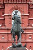 Estatua ecuestre del mariscal Zhukov Fotografía de archivo libre de regalías