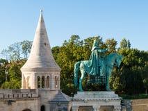 Estatua ecuestre del santo Ishtvan Fotos de archivo