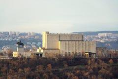 Estatua ecuestre filtrada en Vitkov conmemorativo nacional, Praga, República Checa imagenes de archivo