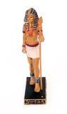 Estatua egipcia de un pharaoh Imágenes de archivo libres de regalías