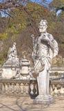Estatua, el jardín de la fuente, Nimes, Francia Foto de archivo
