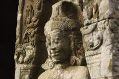 Estatua en Angkor Wat en Camboya Imágenes de archivo libres de regalías