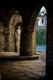 Estatua en Bérgamo Fotos de archivo libres de regalías