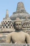 Estatua en Borobudur Fotografía de archivo