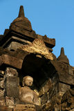 Estatua en Borobudur, Java, Indonesia de Buddha Imágenes de archivo libres de regalías