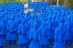 Estatua en Budha Eden Park, en Portugal imagen de archivo