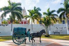 Estatua en Campeche, México Imagenes de archivo