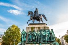 Estatua en Colonia imágenes de archivo libres de regalías