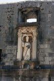 Estatua en Dubrovnik Imágenes de archivo libres de regalías