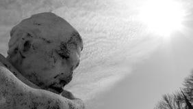 Estatua en el círculo Cleveland Ohio de la universidad Imagen de archivo