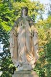 Estatua en el cementerio de Lychakiv en Lviv, Ucrania Imagenes de archivo