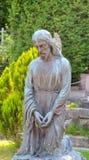 Estatua en el cementerio de Lychakiv en Lviv, Ucrania Fotografía de archivo libre de regalías