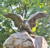 Estatua en el cementerio de Lychakiv en Lviv, Ucrania Fotos de archivo libres de regalías