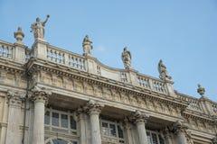 Estatua en el palacio de Madama en Turín - Italia Fotografía de archivo