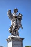 Estatua en el puente de Sant Ángel. Roma (Roma), Italia Fotografía de archivo