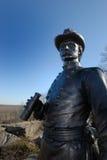Estatua en el puesto de observación Imagen de archivo libre de regalías